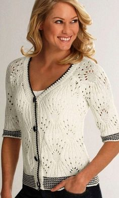 Modelo para agujas de tejer blusa