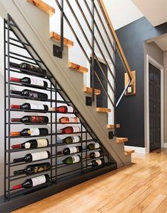 Cave A Vin Design, Under Stairs Wine Cellar, Basement Bar Designs, Basement Ideas, Home Wine Cellars, Wine Cellar Design, Home Theater Design, Wine Storage, Storage Ideas