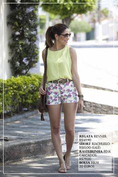 look-short-floral-riachuelo-cinto-animal-print-blusa-neon