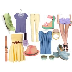 Summer pastels! How cute are those purple shorts? #LEGiTSummer2012