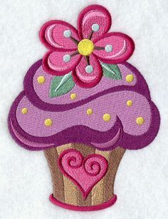 embroidery cupcake applique - Поиск в Google