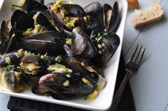 Mussels with Leeks & Chives Recipe