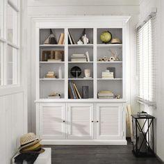 Biblioteca de madera blanca ... - Biarritz