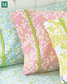 Also love these sheets for girls' room.  Maybe both in pink or one pink and one aqua?  So cute!  Wish they were organic
