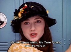 It's not hippie witch, it's Twin Peaks, and it's very in.