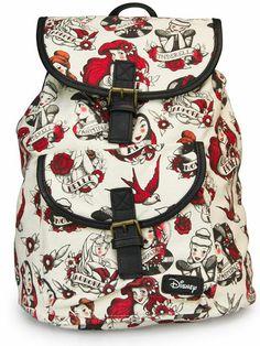 """Disney Princess"" Tattoo Backpack by Loungefly (Biege)"