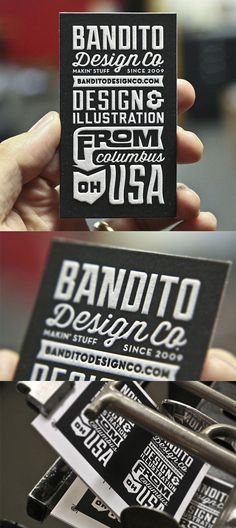 Excellent Typography On A Vintage Chalk Board Style Black And White Business Card