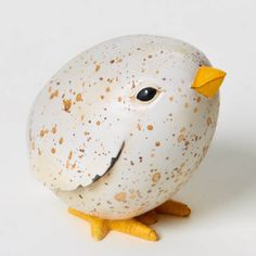 HOME GROWN Enesco Produce Animal Figurine Chicken 4025391 SPECKLED EGG CHICK
