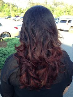 brown+to+red+reverse+ombre | Love my brown to red ombré! | Makeup, Nails & Hair
