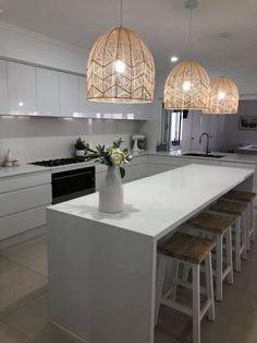 how to design Kitchen Room Design, Modern Kitchen Design, Kitchen Interior, Kitchen Decor, Kitchen Island Australia, Kitchen Ideas Australia, Open Plan Kitchen Dining, Stools For Kitchen Island, New Kitchen
