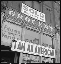Oakland, California, Dorothea Lange, 1942. Documenting the internment of Japanese-Americans in WW2.