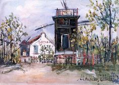 Maurice Utrillo Moulin De Sannois oil painting reproductions for sale