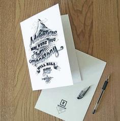 Die schoenen illustrierten Typografie Karten