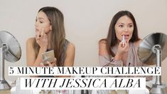 OMG can you believe it? Jessica Alba and I are back with another video! This time we are doing a 5 minute makeup challenge to see if we can get a full face d...