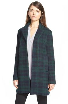 cupcakes and cashmere 'Cardiff' Plaid Coat available at #Nordstrom