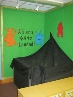 space themed classrooms | Aliens Have Landed Display, classroom display, class display, space ...