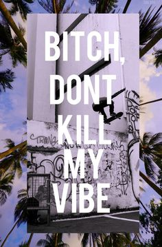 bitch dont kill my vibe