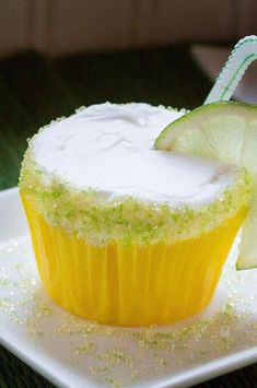 """Margarita Cupcakes   """"OMG!! These were the best. I was totally skeptical about how these would turn out, but I soo wanted to enjoy them for National Margarita Day."""" #cupcakerecipes #bakingrecipes #dessertrecipes #cupcakeideas Margarita Cupcakes, Margarita Recipes, How To Make Cupcakes, Fun Cupcakes, Cupcake Recipes, Dessert Recipes, Desserts, Easy Cupcake Frosting, Bread Recipes"""