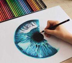 Learn to draw eyes eye drawings drawings, eye art и pencil a Pencil Art Drawings, Cool Drawings, Eye Drawings, Art Sketches, Amazing Drawings, Beautiful Drawings, Realistic Eye Drawing, Color Pencil Art, Color Art