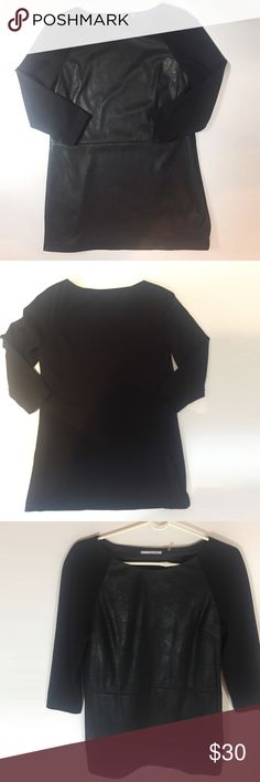 T Tahari Black Tunic shirt So pretty and perfect paired with tights! Excellent condotion. No stains. Size 8. T Tahari Tops Tunics