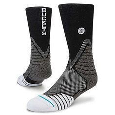 Stance Buckets Black Basketball Crew Socks Size 912 * You can get more  details by clicking