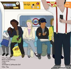 Tired, Victoria line, London, October 2015 – Wilson Yau: I draw, teach and make stuff Oxford Circus Station, London Underground, Brixton, My Drawings, Line, Thursday, October, Family Guy, Victoria