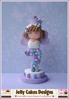 polymer clay Birthday Princess Keepsake cake topper by jelly cakes, via Flickr