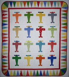 Adorable airplane quilt
