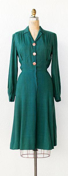 vintage 1940s dress | vintage 1940s PRIVET HEDGE dress