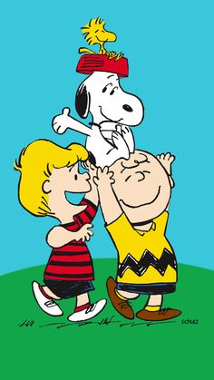 Charlie Brown & Schroeder lifting up Snoopy & Woodstock art Peanuts Gang, Peanuts Cartoon, Peanuts Characters, Cartoon Characters, Happy Saturday, Happy Friday, Charlie Brown Und Snoopy, Snoopy Und Woodstock, Charles Shultz