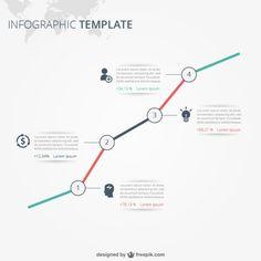Infographie modèle avec du texte