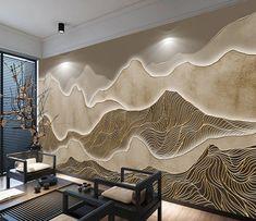 Design Hotel, Interior Walls, Interior Design, Wall Decor Design, Painting Wallpaper, Wall Murals, Wall Art, Decoration, 3d Wallpaper Designs For Walls
