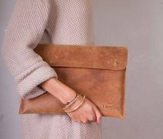 Leather Portfolio and Laptop Sleeve by carina8