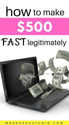 Have you ever found yourself in a situation where you have bills to pay but not enough cash to clear them? Check out our list of 32 different ways to make $500 fast. #makemoneyfast #makemoneyonline #quickcash Make Money Fast, Make Money From Home, Make Money Online, Quick Cash, Have You Ever, Enough Is Enough, Finding Yourself, Check, Make Quick Money