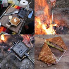 You can now make Poler grilled cheese sandwiches, tuna melts, ham and cheese, you name it. Simply put a sandwich inside and cook it on the open fire. The result is something more than the sum of it's parts and will delight young and old alike with melted goodness.