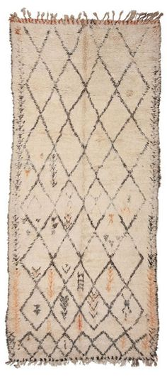 Exotic influences like this simple Berber rug are becoming instantly popular. #berber #rug #trend