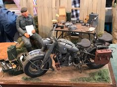 The Modelling News: Charlie's trip continues with his galleys of the Shizuoka Hobby Show 2017 - Tank, Military and AFV dioramas Military Girlfriend, Military Love, Military Spouse, Miniatur Motor, Motorcycle Model Kits, Harley Davidson, Best Armor, The Modelling News, Mixed Models