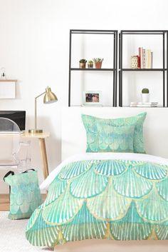 Cori Dantini Turquoise Scallops Bed In A Bag | Deny Designs Home Accessories