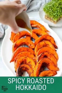 These Spicy Roasted Hokkaido Pumpkin Wedges are a simple, healthy, and delicious vegetarian side dish. Made with thin-skinned pumpkin also known as red kuri squash, the skin is edible which makes preparation a cinch for this hokkaido pumpkin recipe. Veggie Recipes Healthy, Tasty Vegetarian Recipes, Healthy Vegetables, Healthy Dishes, Vegetarian Comfort Food, Vegetarian Side Dishes, Vegetable Side Dishes, Veggie Side, Homemade Pumpkin Puree