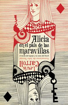 Alice in Wonderland. Year: #2010. Country: #Spain. Illustrations: Katya Mezhibovskaya. Additional Info:  Random House #Spanish edition. #book #cover #art