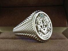 LV Mason Signet Seal 18K Gold Plated Ring