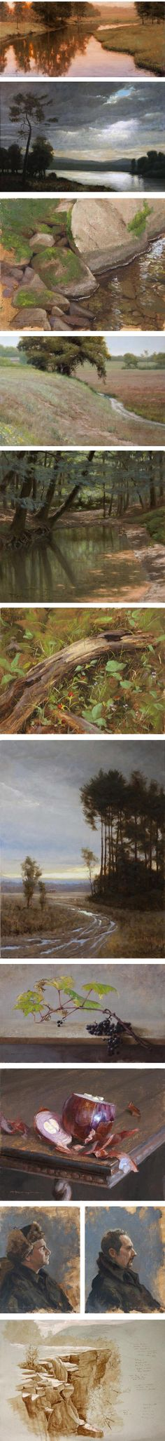 Thomas Kegler is a painter from Western New York State. Largely self-taught, Kegler was drawn to the traditional techniques of realist painting, and in particular the approach of the Hudson River School and their reverence for the beauty of the natural world.