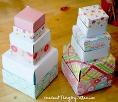 How To Make A Simple Homemade Gift Box. :-)