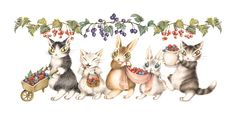 Dayan Nyan Nyan, Famous Pictures, Japanese Artists, Painting & Drawing, Rooster, Illustration Art, Kitty, Etchings, Drawings