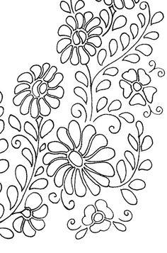 Patrón bordado flores