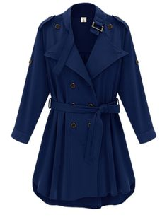 Stylish Lapel Breasted Plain Trench-coats Only $49.95 USD More info...