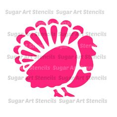 Thanksgiving turkey stencil for cookie by Sugarartstencils on Etsy