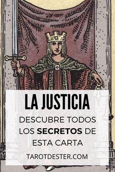 La Justicia es una de las Cartas del Tarot con más sabiduria de la baraja. Descubre todos los secretos y significados pulsando la imagen. Tarot Significado, Crochet, Movie Posters, Tarot Decks, Tarot Cards, Tarot Spreads, Magick, Film Poster, Ganchillo