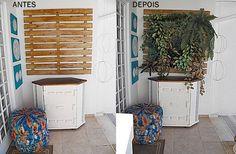 Jardim vertical com plantas artificiais - Reciclar e Decorar da @Fabiana Simone Torres Tardochi