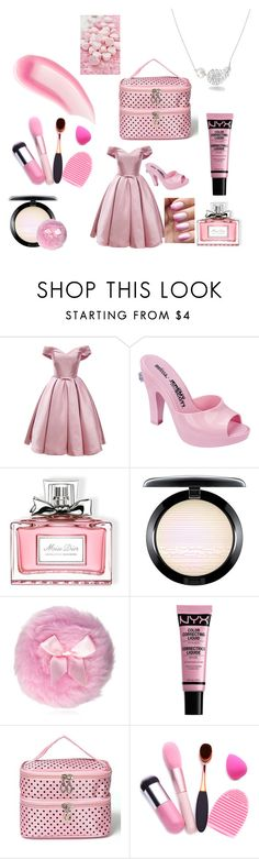 """pink freak"" by candymwitherose ❤ liked on Polyvore featuring Melissa, Christian Dior, MAC Cosmetics, Chanel and Chantecaille"